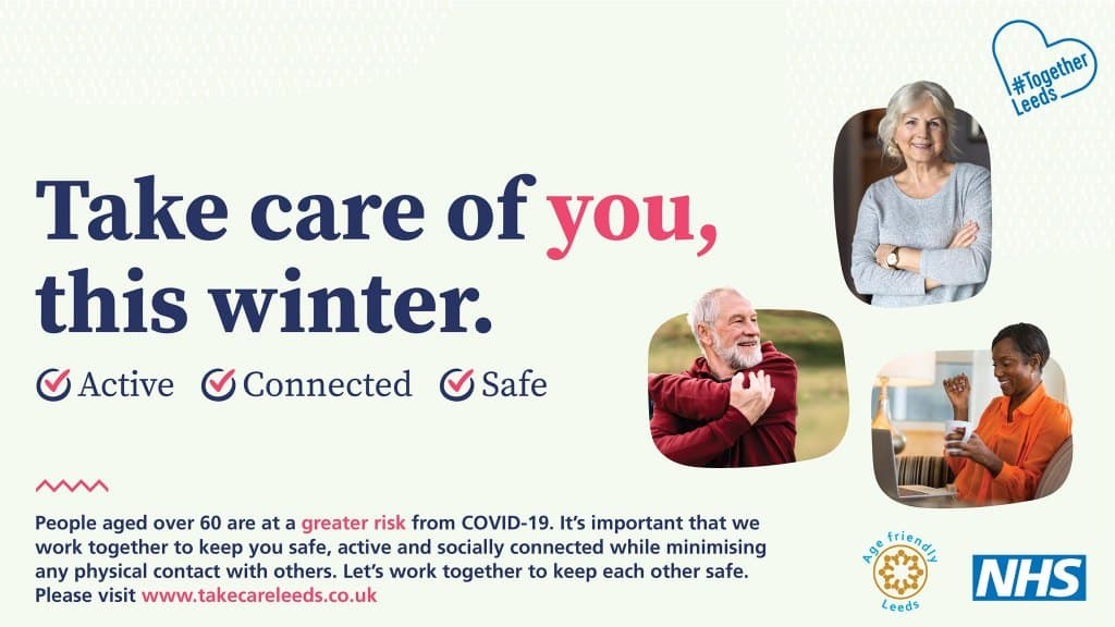 Take care of you this winter campaign flyer - stay active, connected, safe